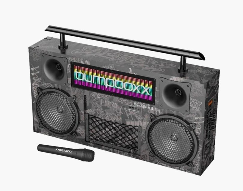 Bumpboxx Freestyle V3S Bluetooth Boombox - BBG Black Graffiti