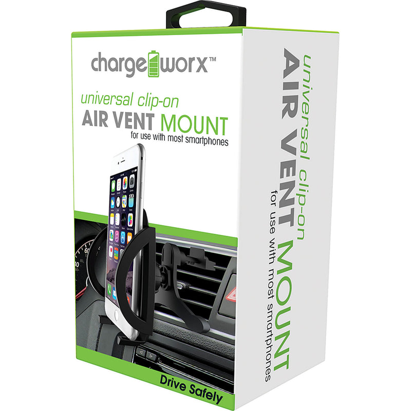 Chargeworx Universal Clip-on Air Vent Swivel Mount