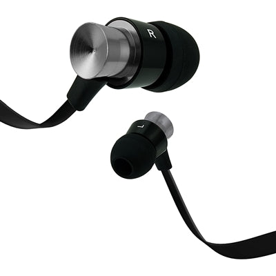 Coby Velocity Aluminum Tangle Free Stereo Earbuds with Mic