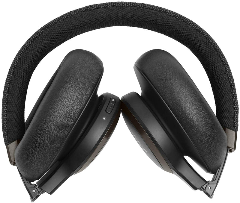 JBL Live 650BTNC bluetooth headphones black folded