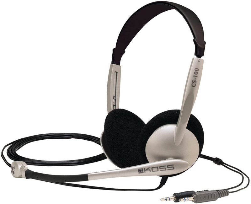 Koss Communication Headset with Flexible Boom Microphone