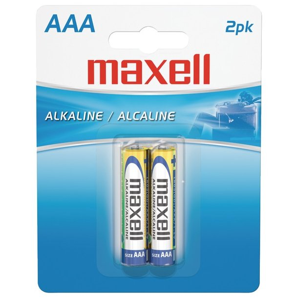 Maxell AAA Alkaline Batteries (2 Pack)