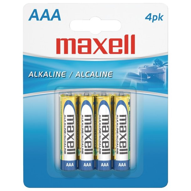 Maxell AAA Alkaline Batteries (4 Pack)
