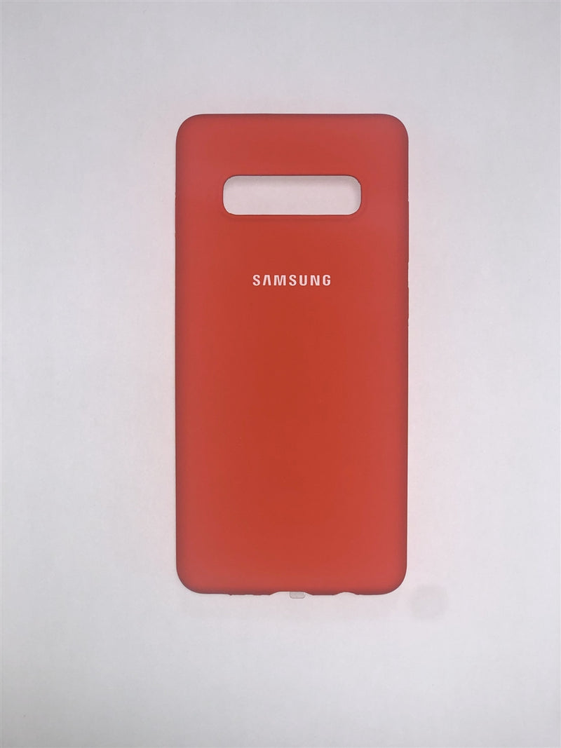 Samsung Silicone Case for Galaxy S10+ (Orange)
