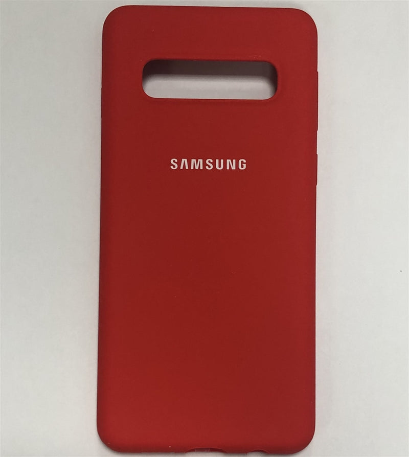 Samsung Silicone Cover for Galaxy S10 (Red)