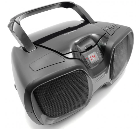 Sylvania Bluetooth® Portable CD AM/FM Radio Boombox (Black)