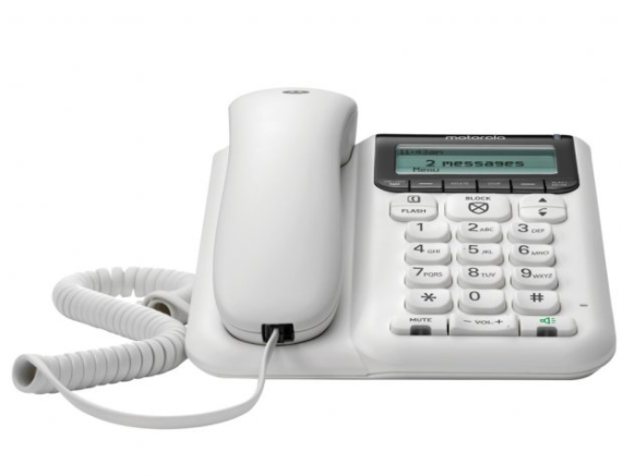 Motorola Corded Telephone with Answering Machine and Advanced Call Blocking