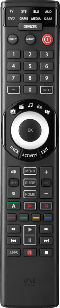 ONE FOR ALL Universal 8-Device Universal Remote with Smart Control