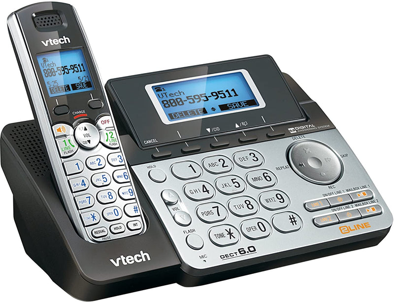 VTECH DS6151 2-Line Cordless Digital Answering System with Caller ID/Call Waiting