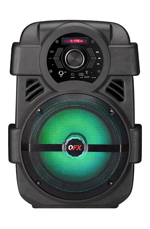 "QFX PBX-8 8"" Bluetooth Rechargeable LED Lighted Party Speaker with Smart App Control"