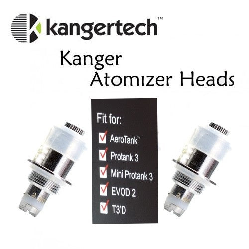Kanger Dual Coil Replacement Atomizers- 5 Pack