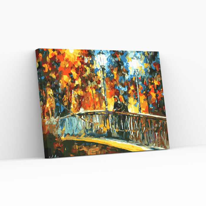 DATE ON THE BRIDGE - Leonid Afremov