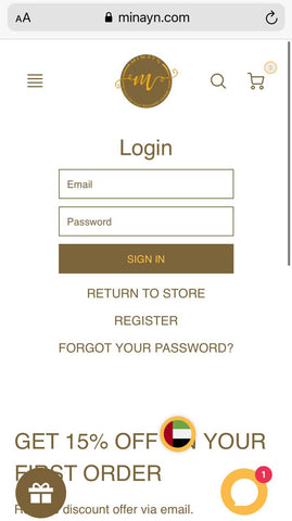 create accoutn online shopping
