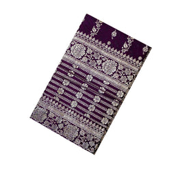 Handmade Dark Violet Notebook With Flower Design