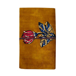 Handmade Diary Brown Notebook With Flower Design