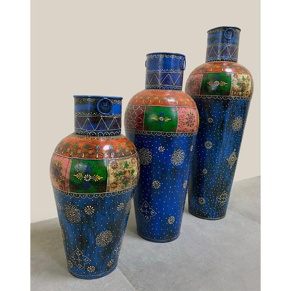 Vintage Iron Vases - Set of 3 - Min Ayn Home Home Decoration Ideas