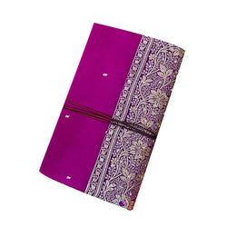 Handmade Magenta Notebook With Floral Design