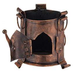 Antique Metal Pen Holder - Brown
