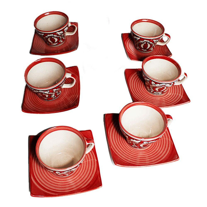 Tea Cups with Plates Set of 5