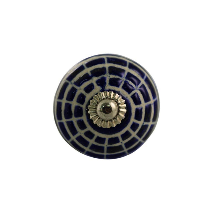 Ceramic Knob - Dark Blue