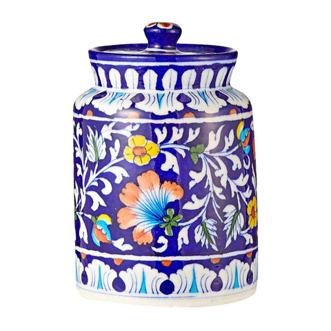 Cookie Jar Blue Pottery - Min Ayn Home Home Decoration Ideas