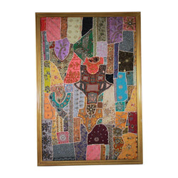 Gold Colorful Framed Tapestry