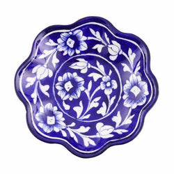 Snack Plate Blue Pottery - Dark Blue