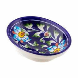 blue pottery Soap Dish