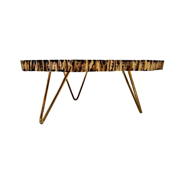 Small Wooden Epoxy Resin Table - Min Ayn Home Home Decoration