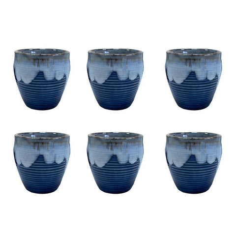 Ceramic Cups - Set of 6 - Min Ayn Home Home Decoration