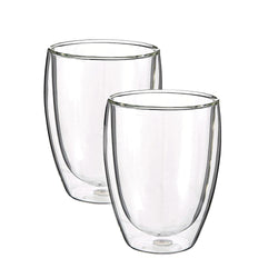 Glass Drinkware Cup | Set of Two
