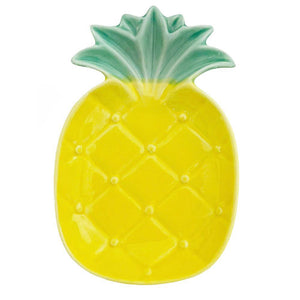 Ceramic Pineapple Plate - Min Ayn Home Home Decoration