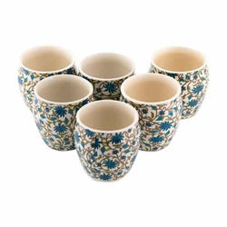 Ceramic Cup Without Handle Set of 6
