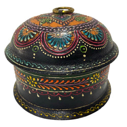 Wooden Hand Painted Trinket Box Jewelry box