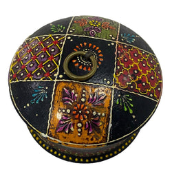 Wooden Hand Painted Trinket Box