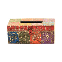 Tissue Box Colorful Wooden