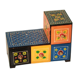 Miniature Chest Of Colorful Drawers