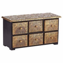 Miniature Chest Of Drawers - Black And Bronze