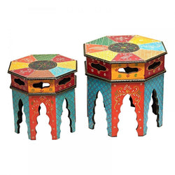 colorful stools - chair - side table