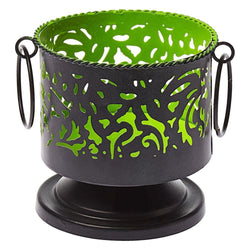 Metal Candle Holder Black Green