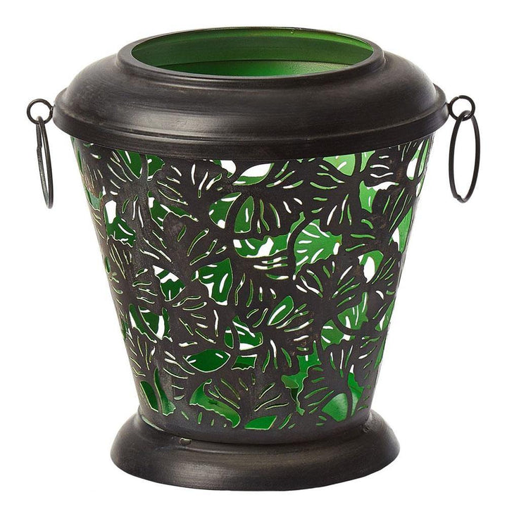 black green Metal Candle Holder With Handles