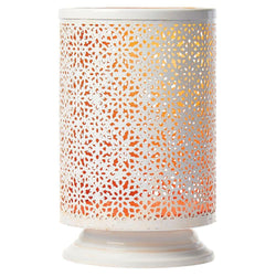 Metal Candle Holder Orange White