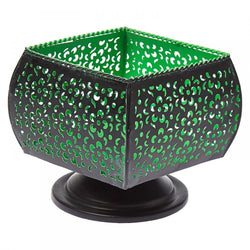 Metal Votive Candle Holder Black and Green