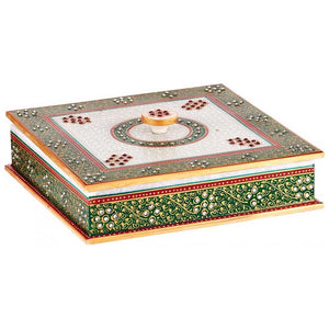 Marble Box With Dividers - Min Ayn Home Home Decoration