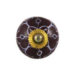 Brown Ceramic Knob - Min Ayn Home Home Decoration