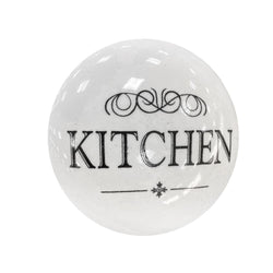 Kitchen Ceramic White Knob