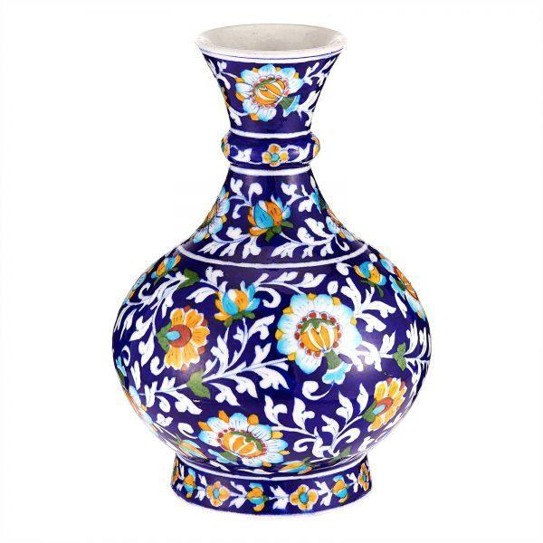 Blue Pottery Vase Bottleneck - printed vase