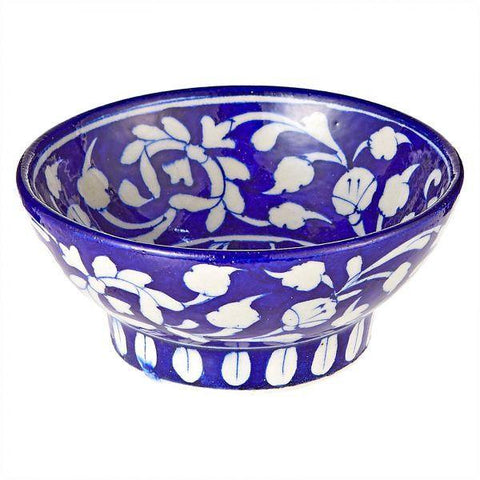 Blue Pottery Snack Bowl - Min Ayn Home Home Decoration