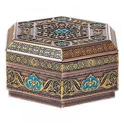 Metal Arabesque Flat Trinket Box