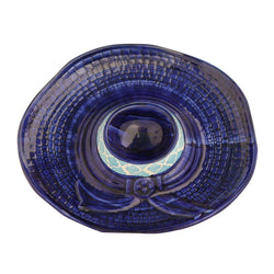Chip And Dip Plate Blue -Luxury Tableware Snack Plate Sale